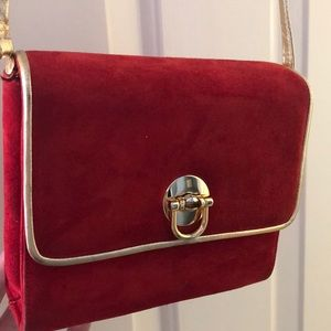 Neiman Marcus Red and Gold Purse